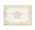 Burlap Sensation - Reception Card