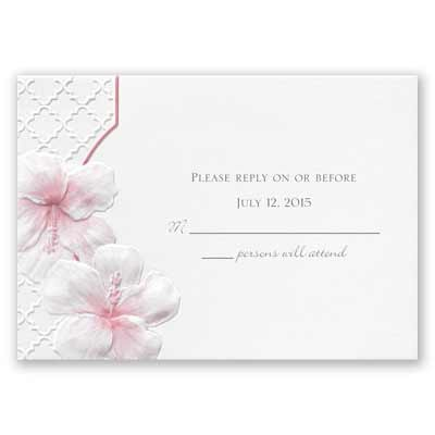 Tropical Trellis - Response Card and Envelope