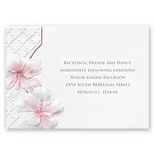 Tropical Trellis - Reception Card