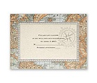 Antique World Map - Response Card and Envelope