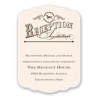 Western Wonder - Reception Card