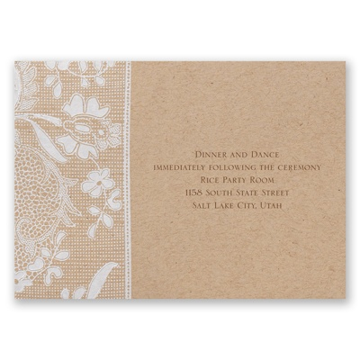 Naturally Romantic - Reception Card