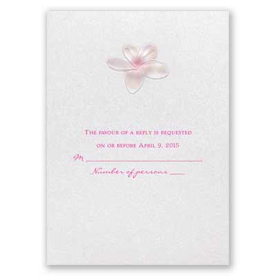 Pretty Plumeria - Response Card and Envelope