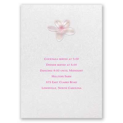 Pretty Plumeria - Reception Card
