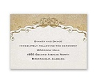Antique Floral - Reception Card