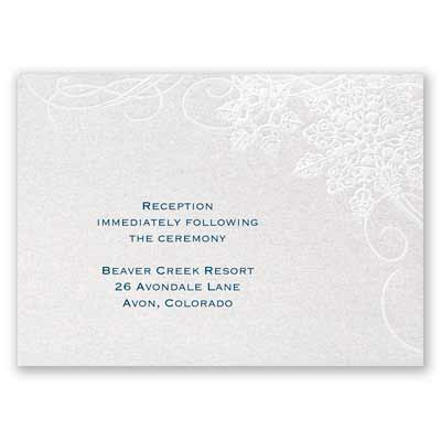 Winter's Kisses - Reception Card