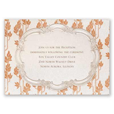 Autumn Vintage - Reception Card