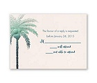 Pleasing Palm Trees - Response Card and Envelope