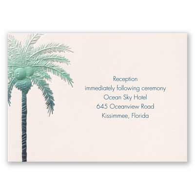 Pleasing Palm Trees - Reception Card