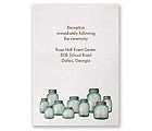 Country Canning Jar - Reception Card