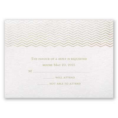Chevron in Autumn - Response Card and Envelope