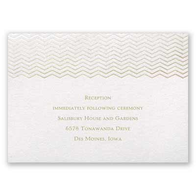 Chevron in Autumn - Reception Card