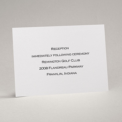 White Shimmer - Reception Card