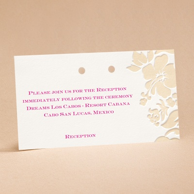Hibiscus Flourish - Reception Card