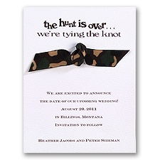 Camouflage Ribbon - Save the Date Card