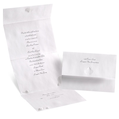 Shimmering Shells - Seal and Send Invitation