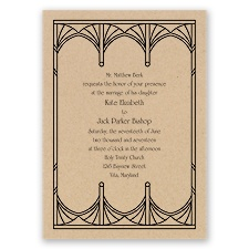 Art Deco Arcs - Invitation