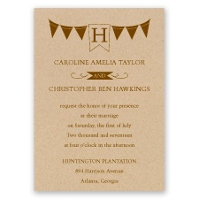 Pretty Pennants - Invitation