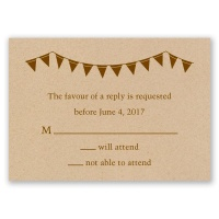 Pretty Pennants - Response Card