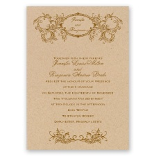 Simply Antique - Invitation