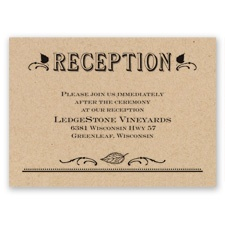Big Celebration - Reception Card