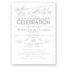 Let's Celebrate - Anniversary Invitation