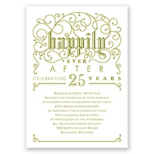 Filigree Whimsy - Anniversary Invitation