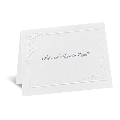 White Heirloom - Note Card and Envelope