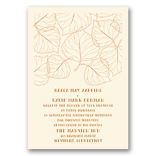 Leaf Silhouettes - Ecru - Invitation