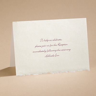Ecru Deckle Edge - Reception Card