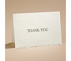 Ecru Deckle Edge - Thank You Card and Envelope