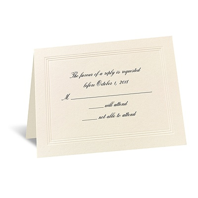 Prelude - Respond Card and Envelope