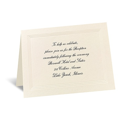 Prelude - Reception Card