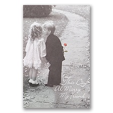 Sweethearts Blank Wedding Programs