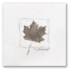 Square Leaf Blank Wedding Programs