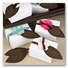 Mocha Leaf Favor Tags Blank or Personalized