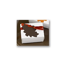Espresso -  Maple Leaf Favor Tags Blank or Personalized
