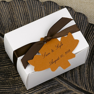 Spice Maple Leaf Favor Tags Blank or Personalized