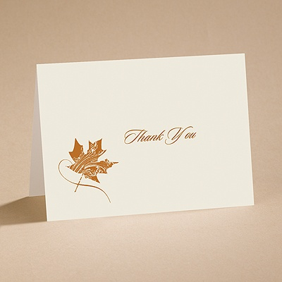 Fashionable Fall - Thank You Card with Verse and Envelope