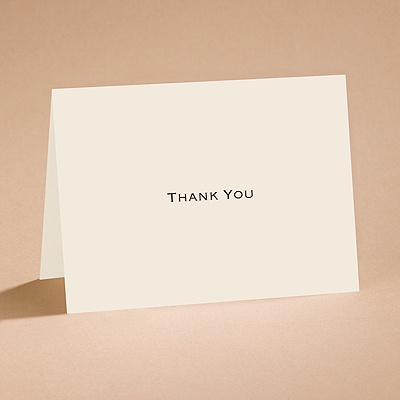 Ecru - Thank You Card and Envelope