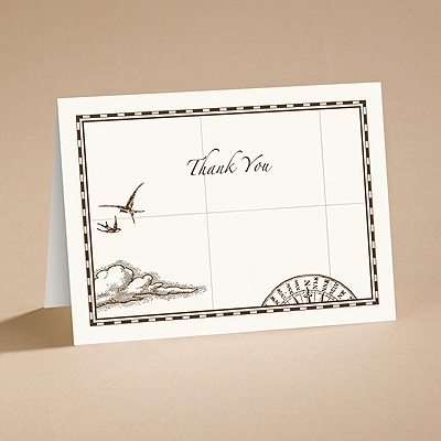 Treasure Map - Thank You Card with Verse and Envelope