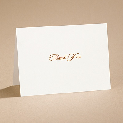 Ecru Love and Marriage - Thank You Card and Envelope