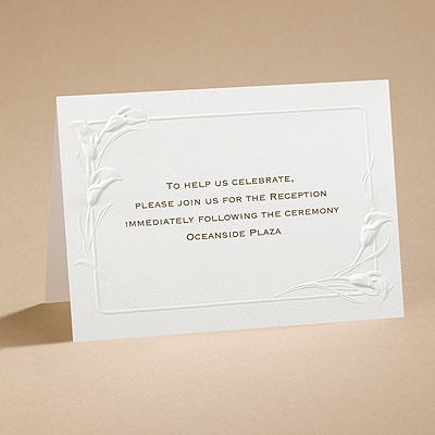 Ecru Heirloom - Reception Card