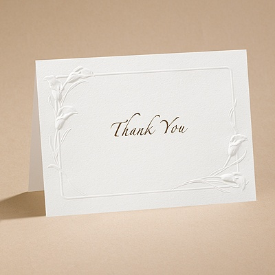 Ecru Heirloom - Thank You Card And Envelope