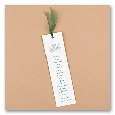 Personalized Moire Bookmarks With Chiffon Ribbon