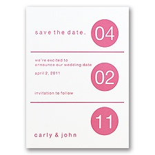 Dot Design - Save the Date Card