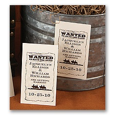 Wanted! - Save the Date Magnet