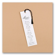 Forever Floral Bookmark - White