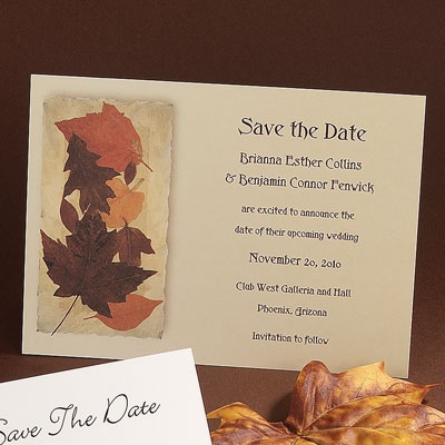Autumn Leaves - Save The Date Card