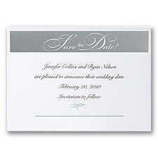 Silver Save The Date - Invitation